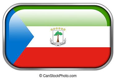 Equatorial Guinea Flag rectangle glossy button