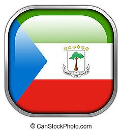 Equatorial Guinea Flag square glossy button