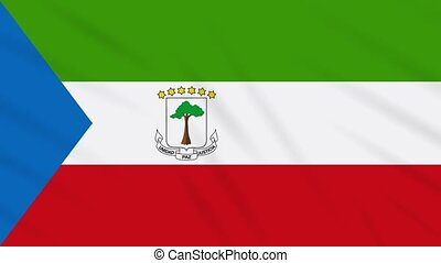 Equatorial Guinea flag waving cloth, ideal for background, loop