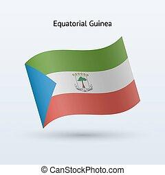 Equatorial Guinea flag waving form. - Equatorial Guinea flag...