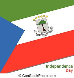 Equatorial Guinea independence day with flag vector...