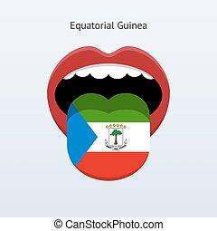 Equatorial Guinea language. Abstract human tongue. Vector...