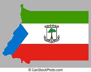Equatorial Guinea Map Flag Vector illustration eps 10