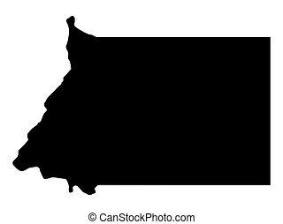 Equatorial Guinea Map Silhouette, Vector illustration eps 10