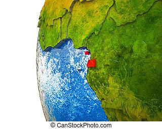 Equatorial Guinea on 3D Earth - Equatorial Guinea ...