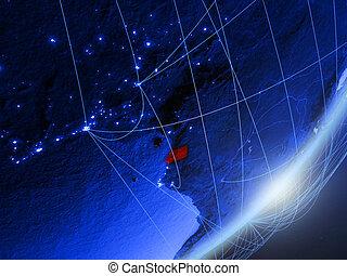 Equatorial Guinea on blue blue digital Earth - Equatorial ...