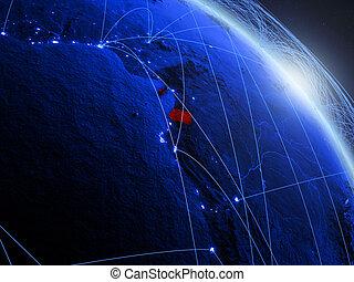 Equatorial Guinea on blue blue digital globe - Equatorial ...