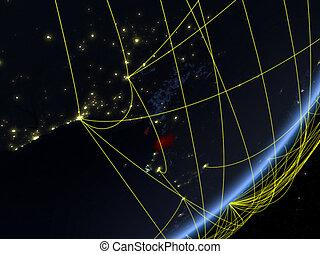 Equatorial Guinea on dark Earth with network - Equatorial ...