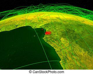 Equatorial Guinea on digital globe - Equatorial Guinea on ...