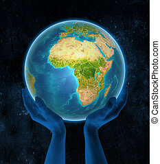 Equatorial Guinea on Earth in hands in space - Equatorial ...