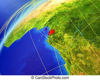 Equatorial Guinea on Earth with network - Equatorial Guinea ...