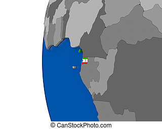 Equatorial Guinea on globe