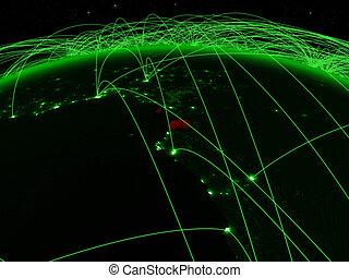 Equatorial Guinea on green globe - Equatorial Guinea on ...
