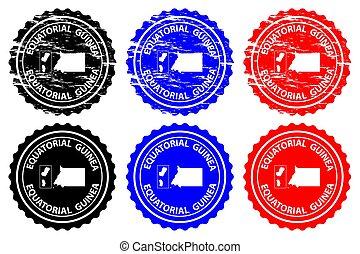 Equatorial Guinea - rubber stamp - vector, Republic of...