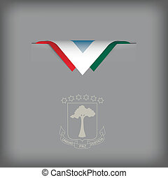 Equatorial Guinea sign - The combination of colors of the...