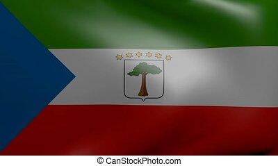 equatorial guinea strong wind flag