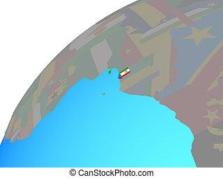 Equatorial Guinea with flag on globe - Equatorial Guinea ...