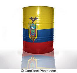 equatoriano, barril, bandeira