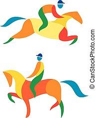 equestre, icona