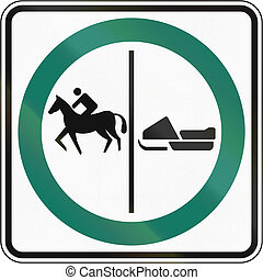 Equestrian And Snowmobile Lane in Canada