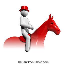 Equestrian Dressage 3D symbol - three dimensional equestrian...