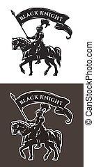 Equestrian knight in armor. - Equestrian knight in armor...