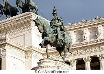 Equestrian sculpture of Victor Emmanuel II, Altare della ...
