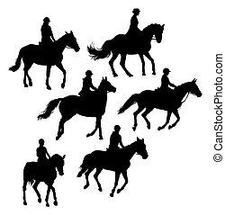 Equestrian Silhouettes