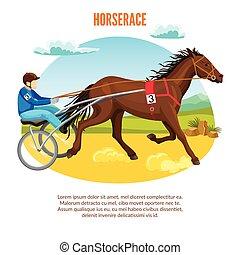 Equestrian Sport Cartoon Template