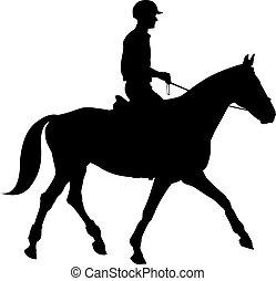 Equestrian sport silhouettes