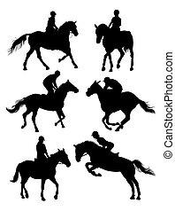 Equestrian Sports Silhouettes