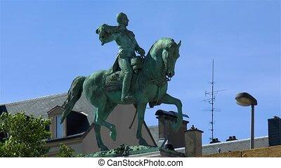 Equestrian statue of Grand Duke William II, statue ?questre Guillaume II, Luxembourg.