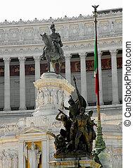 equestrian statue of King Vittorio Emanuele II