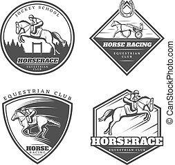Equestrian Vintage Emblems Collection