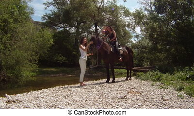 Equestrienne and her horse