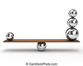 equilíbrio, bola