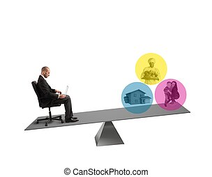 equilíbrio, entre, trabalho, e, vida
