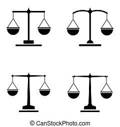 equilíbrio, jogo, ícone