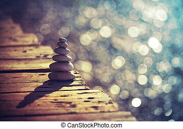 equilíbrio, vida, conceito, paz, interior