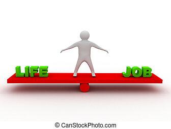 equilíbrio, vida, conceito, trabalho