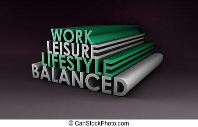 equilibrado, estilo de vida