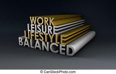 equilibrado, estilo vida