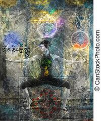 equilibrar, a, chakras