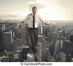 equilibrist, homme affaires