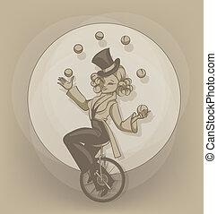 equilibrist, pinup, ジャッグルする, ボール