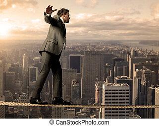 equilibrist, uomo affari
