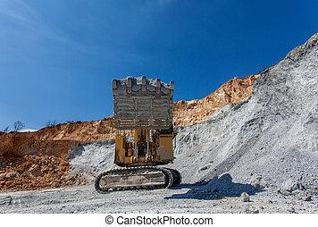 Equimenemt on Cooper mine - Open pit 21 - Bor, Serbia -...