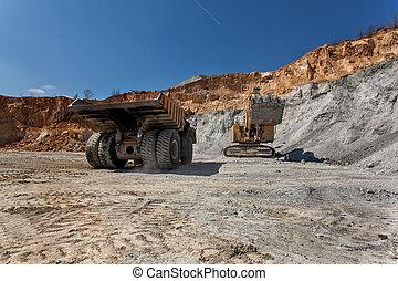 Equimenemt on Cooper mine - Open pit 22 - Bor, Serbia -...