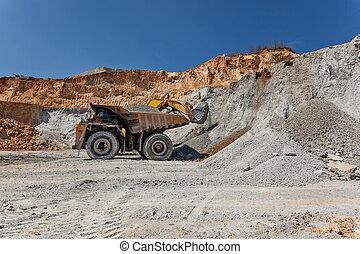 Equimenemt on Cooper mine - Open pit 25 - Bor, Serbia -...