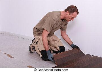equipaggi posa, laminate, pavimentazione